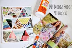 Henrietta and Clementine: DIY Modge Podge Notebook Cover