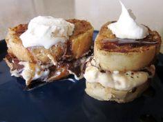 Sunday Brunch: Dark Chocolate and Banana Cream Cheese Stuffed French Toast