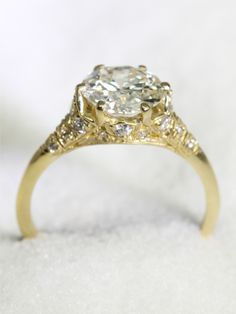 1stdibs | 1.83ct Old European Cut Diamond Gold Ring