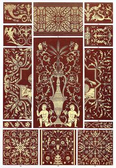 Italian Renaissance Wood Mosaic Examples from choir stalls in Verona, Organo…
