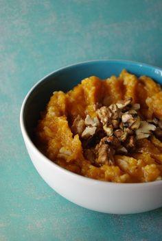 Ági főz: Sütőtökös zabkása, a tökéletes reggeli Risotto, Oatmeal, Paleo, Food And Drink, Cooking, Breakfast, Ethnic Recipes, Kitchen, Tea
