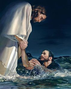 picture of jesus christ with his hand reaching into the water to save peter reaching through the water the hand of god painting Eyes Quotes Love, Eye Quotes, Jesus Artwork, Image Jesus, Love Scriptures, Religion, Pictures Of Jesus Christ, Jesus Painting, God Jesus