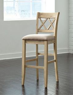 "Shop the Mestler Antique White 30"" Stool at Woodstock Furniture & Mattress Outlet. The brushed finish on this piece gives it a rustic feel. Special financing available."