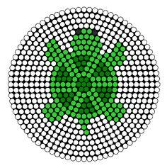 Turtle Perler Bead Pattern   Bead Sprites   Animals Fuse Bead Patterns