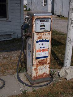 Vintage New No-Nox Gas Pump, via Flickr.