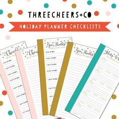 Holiday Planner Checklists