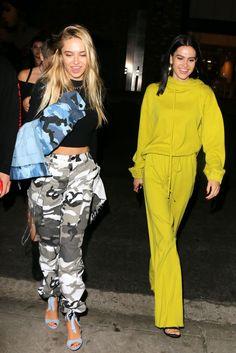 Paparazzi : DELILAH et AMELIA HAMLIN au restaurant Tao à Hollywood 06/01/2017