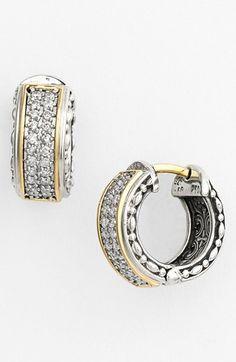 Konstantino 'diamond Classics' Small Hoop Earrings In Silver/ Gold Diamond Hoop Earrings, Round Earrings, Silver Hoop Earrings, Diamond Studs, Diamond Jewelry, Silver Jewelry, Silver Necklaces, Konstantino Jewelry, Princess Cut Diamonds