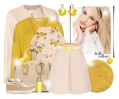 """~ Hello Yellow! ~"" by li-lilou ❤ liked on Polyvore featuring Dondup, Isolde Roth, Silvana, Glamorous, MCM, Delpozo, Lulu in the Sky, Moschino, STELLA McCARTNEY and VANINA"