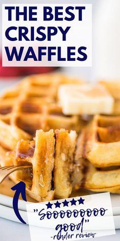 Breakfast Waffles, Breakfast Pastries, Breakfast Items, Breakfast Dishes, Best Breakfast, Pancakes, Best Waffle Recipe, Waffle Maker Recipes, Delicious Breakfast Recipes