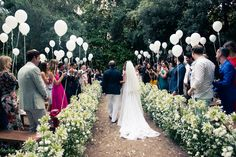 Balloon decorated ceremony site