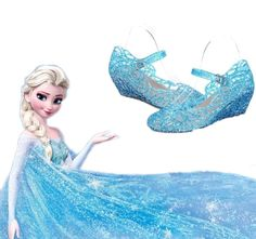 Frozen Elsa Princess Queen Anna Fancy Dress up Cosplay Jelly Shoes Kids Girls #Unbranded #Sandals