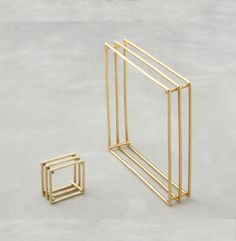 Square ring and bracelet in 14K Gold by LoliBJewelry on Etsy, $1200.00