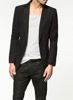 Blazer e camiseta
