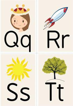 Alphabet Printables (Q – T) Toddler Learning Activities, Alphabet Activities, Preschool Activities, Teaching Kids, Alphabet Words, Alphabet Pictures, Alphabet Charts, Preschool Printables, Preschool Worksheets