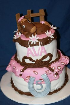 Horse themed birthday cake.  www.divinedessertstampa.com