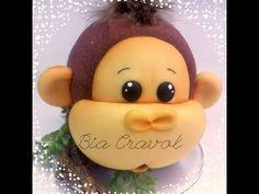 Cofrinho do Macaco em biscuit