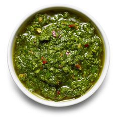 CHIMICHURRI In a food processor, combine 1½ cups fresh parsley leaves, ½ cup cilantro leaves, 1 tablespoon fresh oregano leaves, 3 garlic cl...