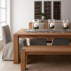 "i think this is a really good alternative for a little less $1995 Big Sur Natural 90.5"" Dining Table in Dining Tables 