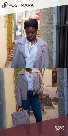 Taupe Faux Leather Jacket Faux leather jacket. Worn a few times only for the blog! Forever 21 Jackets & Coats