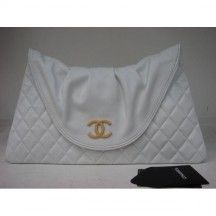 Chanel White Lambskin Clutch, 2012     Like it or Love it... no other option (Lol)