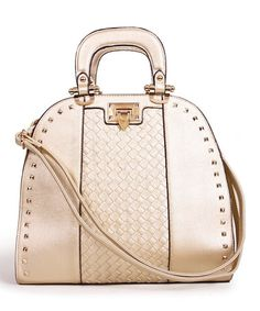 This Gold Studded Flip-Lock Tote is perfect! #zulilyfinds