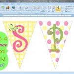 How to Make a Bunting Banner in Word {with Clip Art Tips and Tricks} and pretty labels in WORD