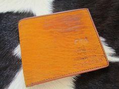 TAN Exotic Genuine shark Skin Wallet bifold vintage 1889 by Ossora