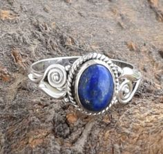 Lapis Lazuli Ring Solid 925 Sterling Silver Ring by armletpalace