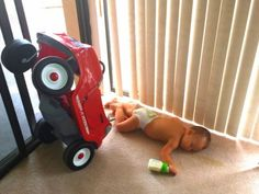 This Baby Has a Lot of Explaining To Do - http://www.ivillage.com/viral-photo-imgur-baby-crashes-toy-car/6-a-548540