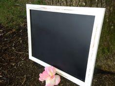 Chalkbord Wedding Chalkboard White satin by WhimsicalLoveBirds, $20.50