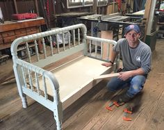 DIY Jenny Lind Bed Swing | Stillwater Farm | www.littlewhitehouseblog.com