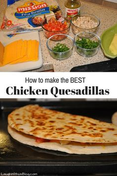 """How to Make the Best Chicken Quesadillas - """"Chicken Quesadillas. It's a pet peeve of mine. A quesadilla is a tortilla with cheese. Mexican Dishes, Mexican Food Recipes, Beef Recipes, Chicken Recipes, Dinner Recipes, Cooking Recipes, Ethnic Recipes, Cooking Gadgets, Appetizers"""