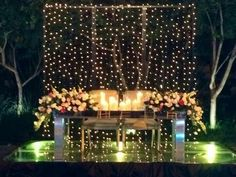 Great sweethearts table set up! Recreate with our Plexiglass Mirror Top Table, Stage Rentals, Twinkle Lights and your choice of Chair Rentals. Check out our website for all your event rental needs www.mtbeventrentals.com