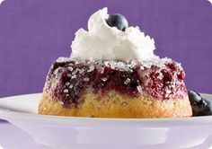 """Blueberry """"cakelets"""" baked in muffin tins.  YUM!"""