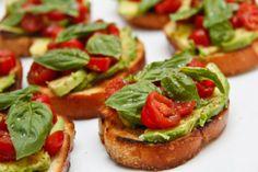 Avocado Tomato Bruschetta is like crack bread. Completely addicting.