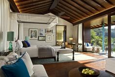 Stunning Interiors by HBA/Hirsch Bedner Associates Home Interior Design, Interior Styling, Seychelles Hotels, Hotel World, Bedroom Bed Design, Bedroom Ideas, Four Seasons Hotel, Hospitality Design, Architecture Design