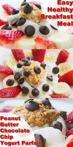 Meal Plans to Lose Weight: Simple Healthy Meals (Breakfast): Yogurt Parfait with Peanut Butter and Chocolate Chips