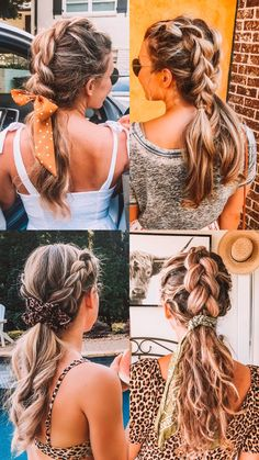 The difference between a dutch braid and a pull through braid. Both ways are super cute # dutch pull through Braids Dutch vs Pull Through Braid Summer Hairstyles For Medium Hair, Medium Hair Braids, Braids For Short Hair, Medium Hair Styles, Long Hair Styles, Cute Hairstyles For Prom, Braids For Kids, Pulled Back Hairstyles, Cute Braided Hairstyles