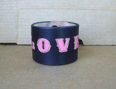 Black Bracelets for Guys Leather Name Bracelets Cool Custom Wristbands XXL…