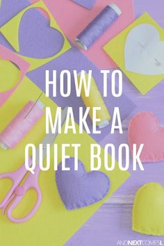 Educational activities for kids · diy quiet books: how to make a busy book for kids