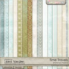 Time Travels Pattern Papers    **Also available at SBB: http://scrapbookbytes.com/store/digital-scrapbooking-supplies/LB_TT_patterned.html