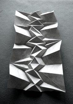 Origami - geometric paper art Paper Folding by Andrea Russo Architecture Pliage, Architecture Origami, Architecture Models, Concept Architecture, Andrea Russo, Paper Structure, Plakat Design, Paper Artist, Origami Paper