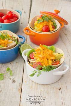 Deliciosas Canastas a la Mexicana - #Receta proporcionada por Chokolat & Pimienta. https://www.facebook.com/Chokolat.Pimienta.Blog?fref=ts