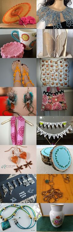 TEMPTing May Finds by Leah Michaels on Etsy--Pinned with TreasuryPin.com Free Crochet, Crochet Patterns, Shops, Jewellery, Table Decorations, Yellow, Handmade, Etsy, Earrings