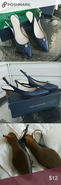 "Tommy Hilfiger Blue Shoes. Very comfortable 2 1/2"" heels. Slingback Pumps. Tommy Hilfiger Shoes Heels"