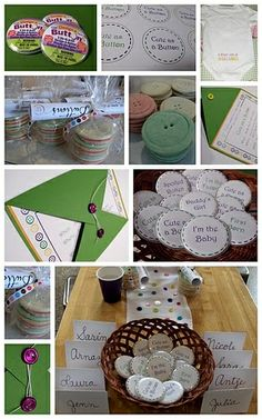 cute as a button baby shower | Host-It Notes: Real Party Inspiration: Cute As A Button
