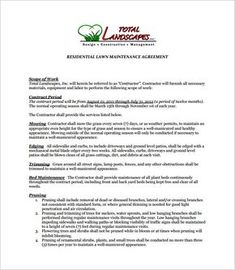 7 Lawn Service Contract Templates Free Word PDF Documents Download
