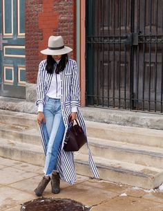 striped shirtdress o