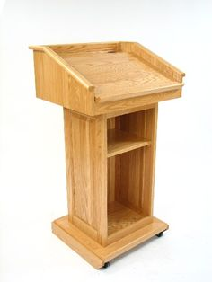 Free Church Pulpits | Adjustable Bible Rest can be lowered for Laptop use or Raised for ...